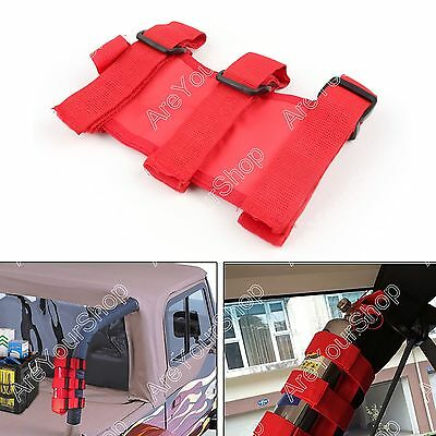 Red Car Auto Fixed Holder Fire Extinguisher For Jeep Wrangler TJ YJ JK CJ BS4
