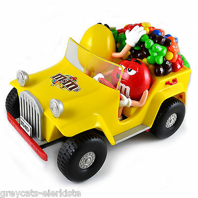M&M WHEELS DISPENSER, Red & Yellow, Mars, RAR