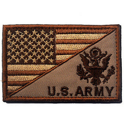 Usa Flag & U.s. Army Morale Badge Tactical Military Patches Hook Loop Patch -05