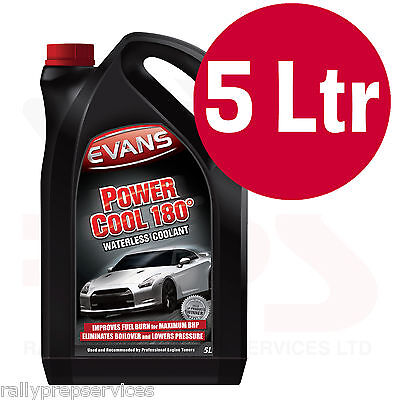 EVANS WATERLESS POWER COOLANT 180 - 5 Litre High Performance / Rally Car / Race