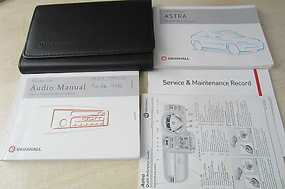 VAUXHALL ASTRA G 1998-2004 Owners Manual Handbook & Service Book w/ Wallet Pack