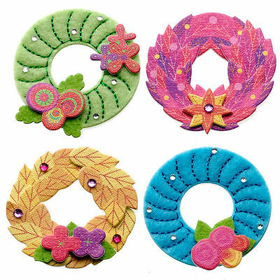 Jolee's Boutique ***COLORFUL STITCHED WREATHS*** NIEUW!!!