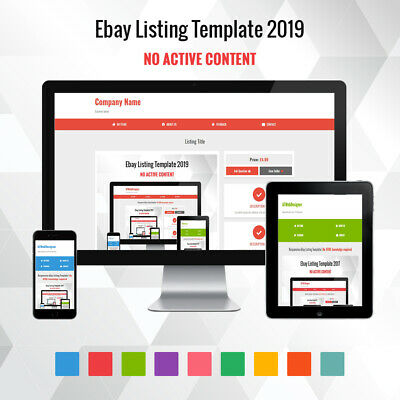 Professional eBay Listing Template Mobile Friendly Design 2018 HTTPS Compiliant