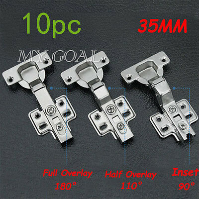 10x GTV Soft Close Kitchen Hinge Cabinet Cupboard Door Hinge Plate + Screws