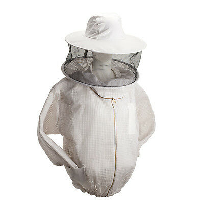 Beekeeping Jacket Bee Jacket Ventilated Three Layers Mesh With Round Hat