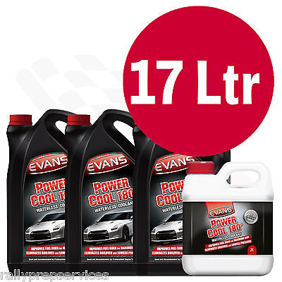 EVANS WATERLESS POWER COOLANT 180 - 17 Litre High Performance / Rally Car / Race