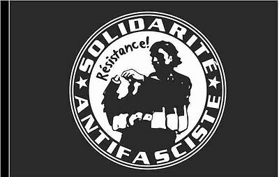 Solidarite Antifasciste Flagge