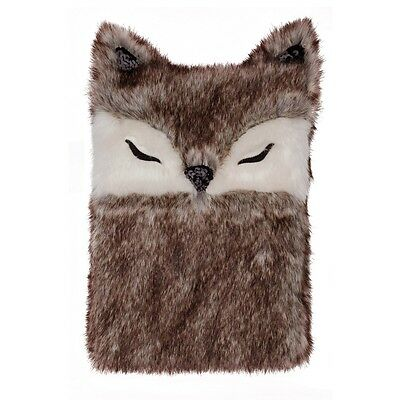 Aroma Home Gorgeous Deluxe Faux Fur Fox Cover 1.5 Litre PVC Hot Water Bottle