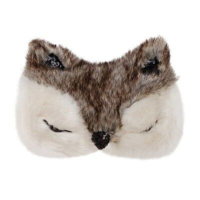 NEW Aroma Home Gorgeous Deluxe Faux Fur Fox Lavender Eye Mask / Sleep Mask
