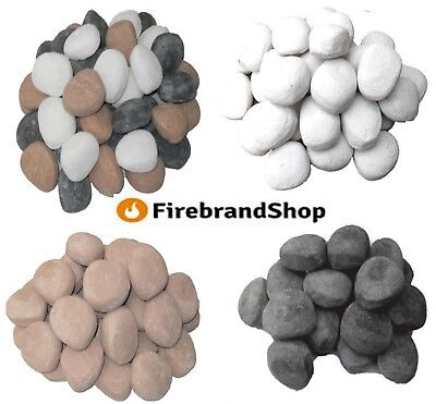 stones for gas fire 4 diffrent colours optional qtys replacment coals/pebbles/in