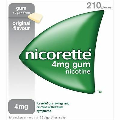 Nicorette Chewing Gum 4mg Orginal Flavour - 210 Pieces