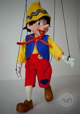 Small Pinocchio Marionette - Handmade string puppet from Prague