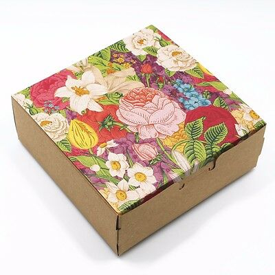 Beautiful Flower Kraft Paper Gift Box for Gift Wedding Party Favor Box