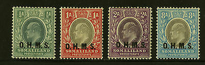 Somaliland Protectorate   1904  Scott # O11-O14   Mint Lightly Hinged Set