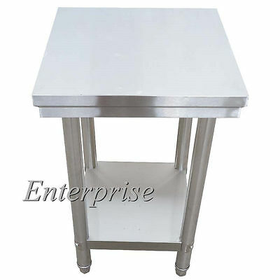 50X50cm Commercial Stainless Steel Work Bench Food Prep Kitchen Table Equipment
