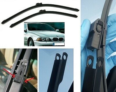 "BMW 5 Series Wiper Blades  E39 22' (550mm) & 26"" (650mm) Tech made in Germany BQ"