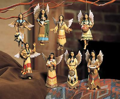 Native American Inspired Holiday Angels Southwest Christmas Ornaments/Figurines