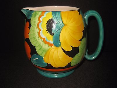 Stunning Grays Pottery Hand Painted Art Deco Floral Paris Jug (A1149).