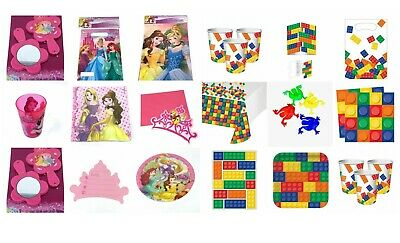 50 Piece Birthday Party Pack Teletubbies Block Princess Cups Plates Loot Bags