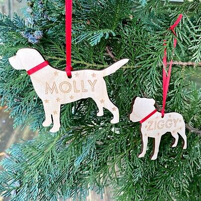 Personalised Dog Puppy Gifts 1st Christmas Decoration Pet Memorial Bauble Gifts