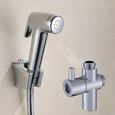 Toilet tank BIDET Handheld shower spray head  Hygienic jet Wash diverter Set