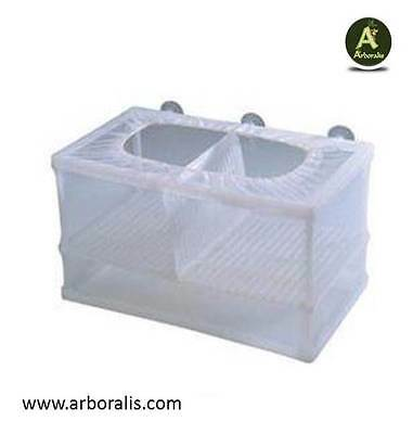 Pondoir Double Isoloir pour poisson - Alevin, Guppys , Filet, Aquairum  (NEUF)