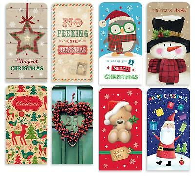 Pack Of 4 Cute Or Contemporary Xmas Money Card Voucher Wallet