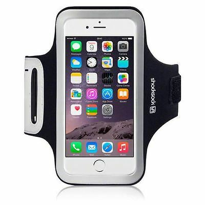 Black Premium Sports Gym Fitness Armband for Apple iPhone 7 by Shocksock