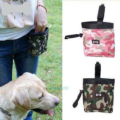 Camouflage Pet Dog Puppy Snack Obedience Agility Food Training Treat Pouch Bag