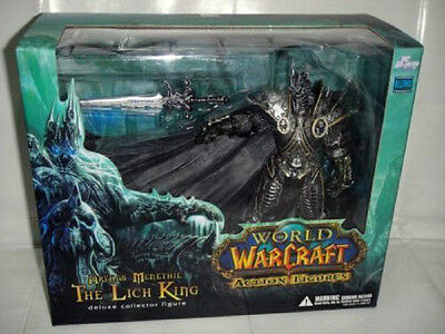 NEU World of Warcraft WoW Arthas Menethil Lich King Deluxe Action Figur Figuren