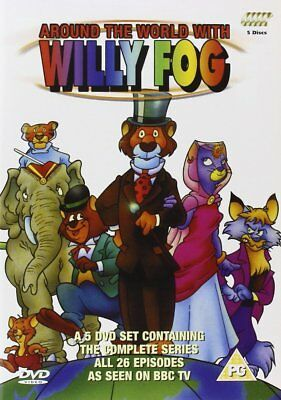 AROUND THE WORLD WITH WILLY FOG COMPLETE SERIES DVD Box Set Animated Cartoon NEW