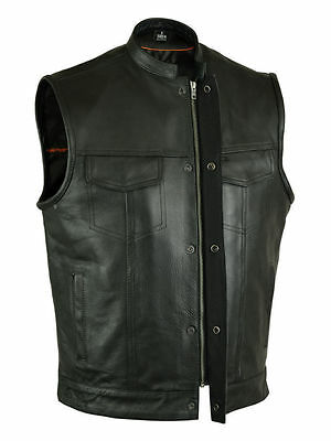 Men's Outlaw Leather Motorcycle Club & Biker Vest (concealed carry for firearms)