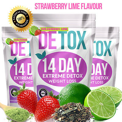 Strawberry Lime✶Slimming Tea✶14 Day Teatox✶Weight Loss✶Diet✶Burn Fat Skinny Tea