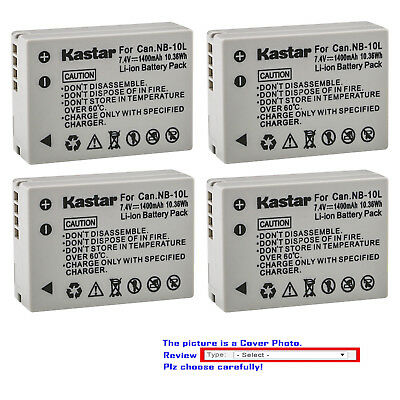 Kastar Battery for Canon NB-10L CB-2LC Canon PowerShot G1X G15 SX40 HS SX50 SX60
