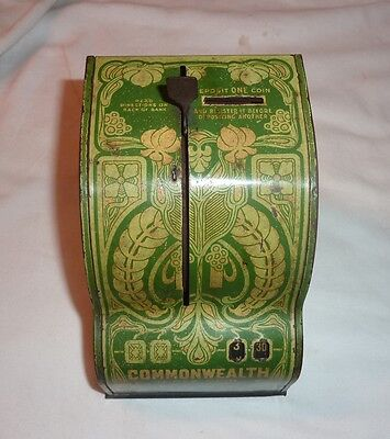 Antique Tin Litho Commonwealth Registering Bank