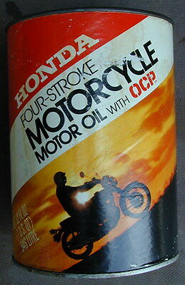 Old Original Honda Motorcycle Four-Stroke Motor Oil Can 1960's Very Rare