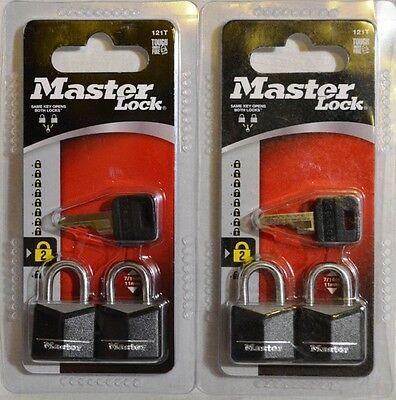 2 Packs of 2 Master Lock 121T  Luggage Diary Small Locks