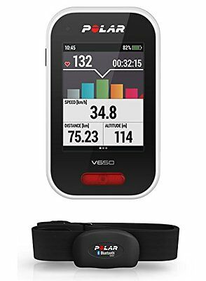 Polar V650 GPS Cycling Computer with Heart Rate Monitor - Black