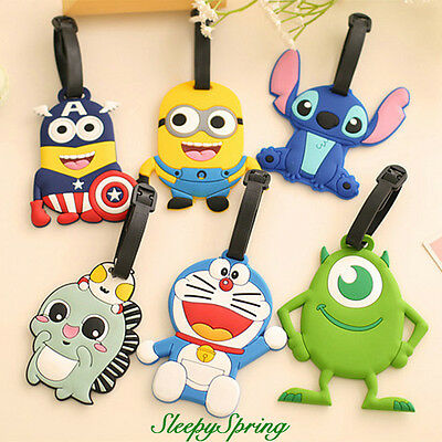 Travelling Luggage Tag School Bag - Minions/Stitch/Mike Wazowski/Captain America