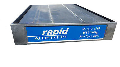 ALUMINIUM PLANK - 2 Metre, Meets Australian Standards. Rubber all 4 edges