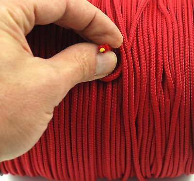 Red Polyester Double Braided Rope Nylon Para Cord Extra Strong Polyester 4 mm