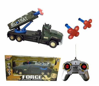 Remote Control Military Missile Truck Full Function 4 Channel Child boys Toy Car