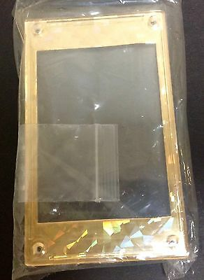 """Gold reflective Color """"Display Card Case"""" Protective Screwdown 4 Screw  NEW"""