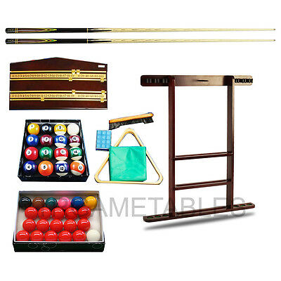 Top Range Accessories Kit for Pool Snooker Billiard Game - Cue Stand Balls Chalk