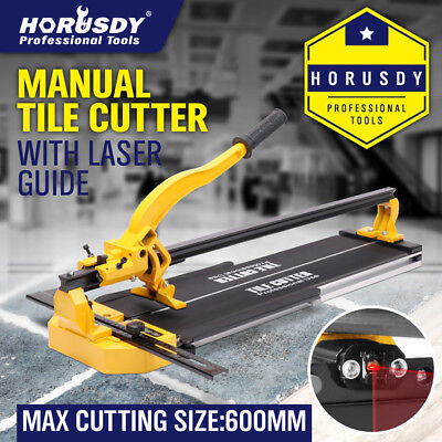 Horusdy Manual Tile Cutting Machine  laser guide Home Pro Tile Cutter 600mm