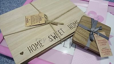SET OF 2, 4 wooden PLACEMATS AND COASTERS,