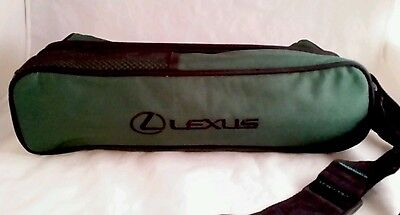 Lexus WINE BOTTLE CARRYING CASE  TWO PLASTIC GLASSES green