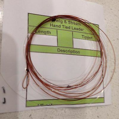 Hand knotted Tapered Nymphing fly fishing leader  9ft + Indicator Yarn