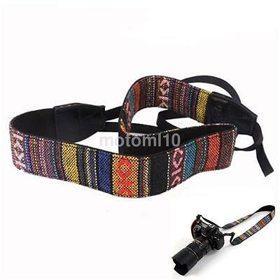 Vintage Camera Shoulder Neck Strap For Nikon Canon Sony Panasonic SLR DSLR UK