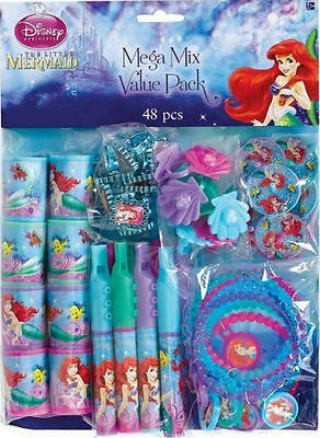 The Little Mermaid  Ariel 48pc Favor Mega Pack Bag Fillers Prizes Games Birthday